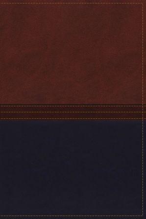 NKJV, The MacArthur Study Bible, Leathersoft, Brown/Navy