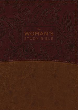 NKJV, Woman's Study Bible, Fully Revised, Imitation Leather, Brown/Burgundy, Full-Color Hardcover  by Hannah Anderson