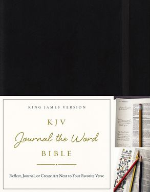 Cover image - KJV, Journal The Word Bible: Reflect, Journal, Or Create Art Next To Your Favorite Verses [Black]