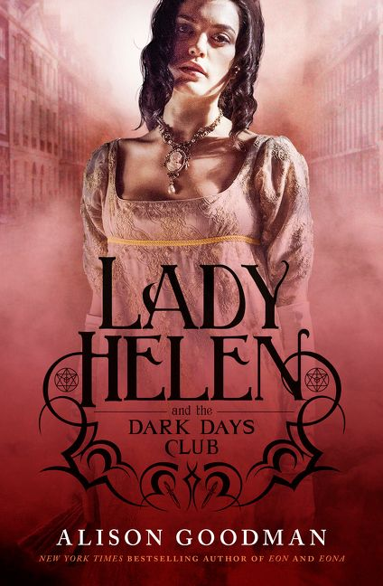 Lady Helen and the Dark Days Club — dusty pink cover depicting a young woman in Regency garb; title in black with ornamentation