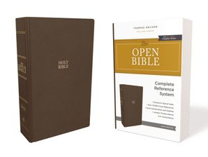 KJV, Open Bible, Hardcover, Brown, Red Letter Edition, Comfort Print: Complete Reference System Hardcover  by No Author