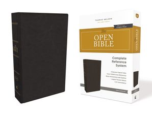 KJV, Open Bible, Leathersoft, Black, Red Letter Edition, Comfort Print: Complete Reference System Hardcover  by No Author