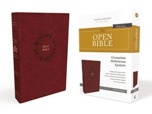 KJV, Open Bible, Leathersoft, Burgundy, Indexed, Red Letter Edition, Comfort Print: Complete Reference System Hardcover  by No Author