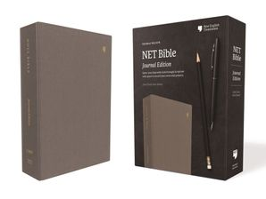 NET Bible, Journal Edition, Cloth over Board, Gray, Comfort Print : Holy Bible Hardcover  by No Author