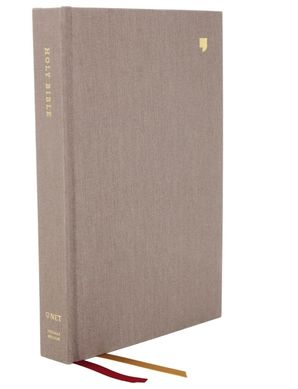 NET Bible, Thinline, Cloth over Board, Gray, Comfort Print : Holy Bible Hardcover  by No Author