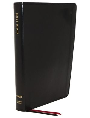 NET Bible, Thinline, Leathersoft, Black, Thumb Indexed, Comfort Print : Holy Bible