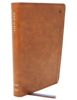 NET Bible, Thinline, Leathersoft, Brown, Thumb Indexed, Comfort Print : Holy Bible Hardcover  by No Author