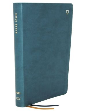 NET Bible, Thinline, Leathersoft, Teal, Thumb Indexed, Comfort Print : Holy Bible Hardcover  by No Author