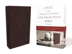 NKJV, Charles F. Stanley Life Principles Bible, 2nd Edition, Leathersoft, Burgundy, Comfort Print: Growing in Knowledge and Understanding of God Through His Word Hardcover  by Charles Stanley