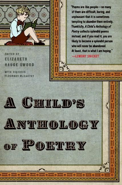 Poetry Anthology Book Cover : A child s anthology of poetry elizabeth hauge sword