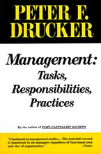 Book cover image: Management: Tasks, Responsibilities, Practices