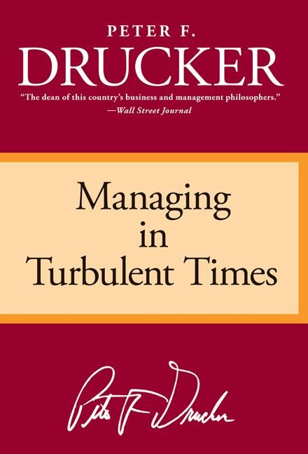Book cover image: Managing in Turbulent Times