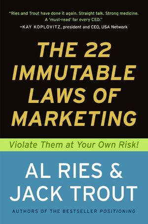The 22 Immutable Laws of Marketing book image