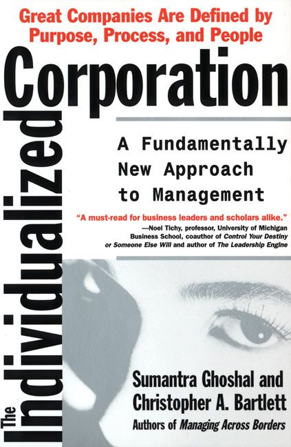 Book cover image: The Individualized Corporation: A Fundamentally New Approach to Management