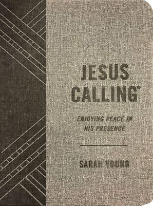 Jesus Calling (Textured Gray Leathersoft): Enjoying Peace in His Presence (with Full Scriptures) Hardcover  by Sarah Young