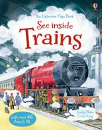 See Inside Trains Hardcover  by Emily Bone