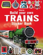 Build Your Own Trains Sticker Book Paperback  by Simon Tudhope
