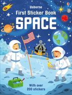 First Sticker Book Space Paperback  by Simon Tudhope