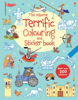 Usborne Terrific Colouring And Sticker Book