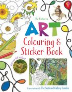 Art Colouring and Sticker Book Paperback  by Rosie Dickins
