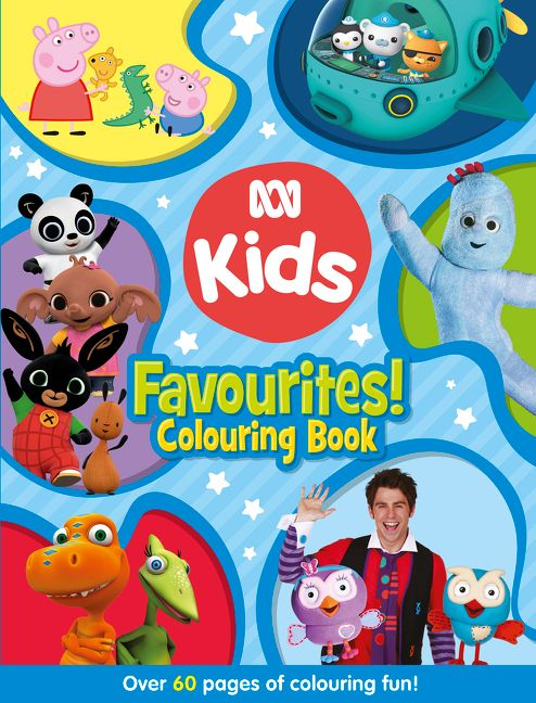 Children S Book Blue Cover ~ Abc kids favourites colouring book blue harper