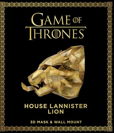 Game of Thrones Mask and Wall Mount - House Lannister Lion