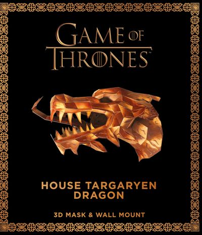 Game of Thrones Mask and Wall Mount - House Targaryen Dragon