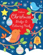 CHRISTMAS STICKER AND COLOURING BOOK PB Paperback  by USBORNE