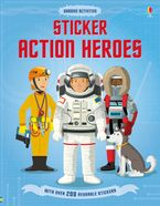 STICKER ACTION HEROES Paperback  by MEGAN CULLIS