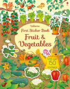 First Sticker Book Fruit And Vegetales Paperback  by HANNAH WATSON