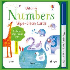 WIPE-CLEAN NUMBER CARDS
