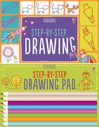 STEP-BY-STEP DRAWING KIT Paperback  by USBORNE