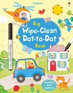 BIG WIPE CLEAN DOT-TO-DOT BOOK Paperback  by Felicity Brooks