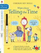 Wipe-Clean Telling The Time 7-8 Paperback  by Holly Bathie