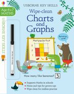 Wipe Clean Charts & Graphs 6-7 Paperback  by Holly Bathie