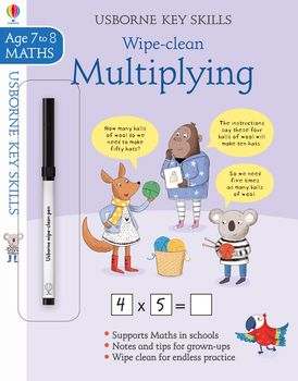 Key Skills Wipe-Clean:  Multiplying 7-8