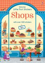 Little First Stickers Shops Paperback  by ABIGAIL WHEATLEY