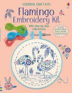 Flamingo Embroidery Kit Hardcover  by Lara Bryan