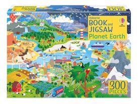 Book and Jigsaw: Planet Earth