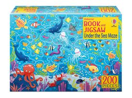 Book and Jigsaw Under the Sea Maze