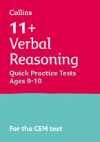 Collins 11+ Practice – 11+ Verbal Reasoning Quick Practice Tests Age 9-10 (Year 5): For the 2021 CEM Tests Paperback  by Collins 11+