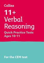 Collins 11+ Practice – 11+ Verbal Reasoning Quick Practice Tests Age 10-11 (Year 6): For the 2021 CEM Tests Paperback  by Collins 11+