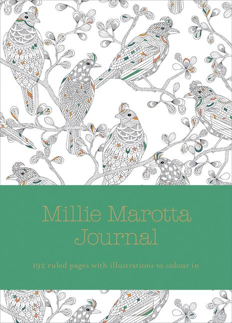 Millie Marotta Wild Savannah Journal Ruled Pages With Full Page