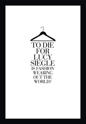 Cover image - To Die For: Is Fashion Wearing Out the World?