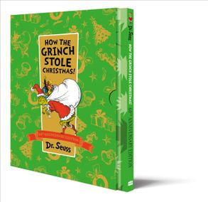 How The Grinch Stole Christmas Book Cover.How The Grinch Stole Christmas 60th Birthday Slipcase