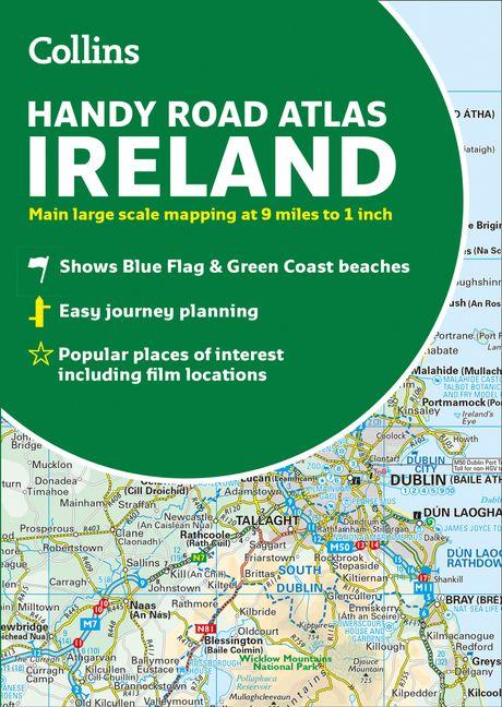 Map Of Ireland Book.Collins Handy Road Atlas Ireland New Edition Harpercollins Australia