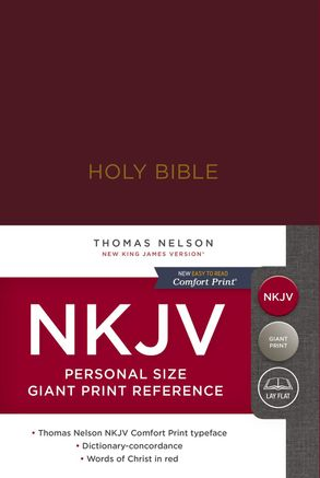 NKJV Personal Size Reference Bible Red Letter Edition [Giant