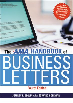 Cover image - The AMA Handbook Of Business Letters