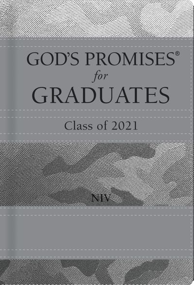 God's Promises for Graduates: Class of 2021 - Silver Camouflage NIV