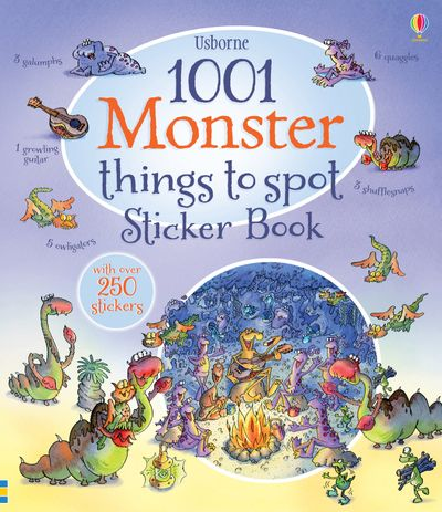 1001 Monster Things to Spot Sticker Book